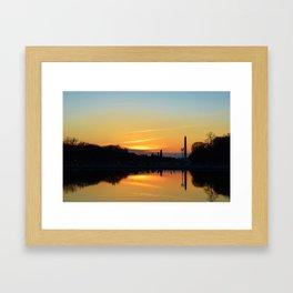 Sunset On Capitol Hill Framed Art Print
