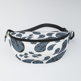 Paisley turquoise, black and white. Fanny Pack