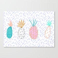 Pineapple. Illustration, print, pattern, fruit, design, fun, Canvas Print