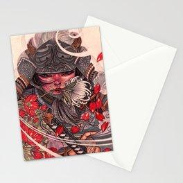 Female Samurai Warrior Stationery Cards
