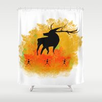 native Shower Curtains featuring Native by Max Wellsman
