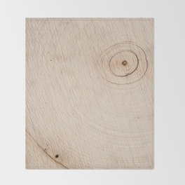 Real Wood Texture / Print Throw Blanket