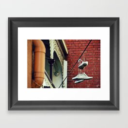 Sneakers & Pipes Framed Art Print