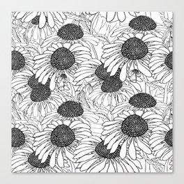 beautiful graphic daisies Canvas Print