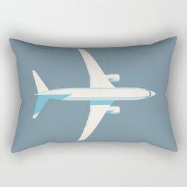 737 Passenger Jet Airliner Aircraft - Slate Rectangular Pillow
