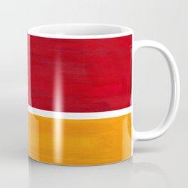 Burnt Red Yellow Ochre Mid Century Modern Abstract Minimalist Rothko Color Field Squares Coffee Mug