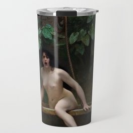 Truth Coming Out of Her Well Painting by Jean-Léon Gérôme Travel Mug