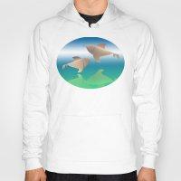 dolphins Hoodies featuring dolphins by Ruud van Koningsbrugge