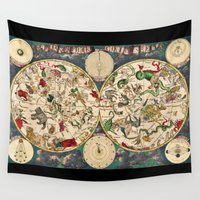 zodiac Wall Tapestries featuring Zodiac Signs by From Flora With Love