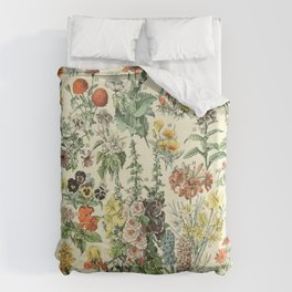 Adolphe Millot Vintage Fleurs Flower 1909 Bettbezug