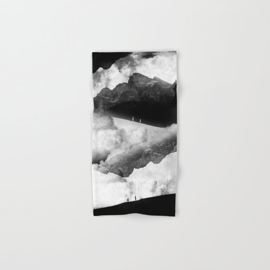 State of black and white isolation Hand & Bath Towel