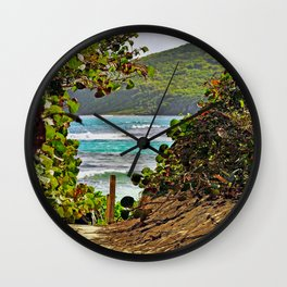 The Path to Paradise Wall Clock