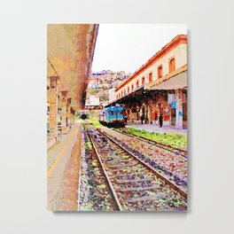 Catanzaro: train at the station Metal Print