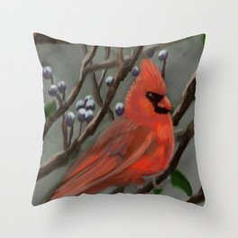 Male Cardinal DP151210a-14 Throw Pillow