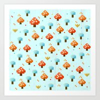 mushroom Art Prints featuring Mushroom by Kakel