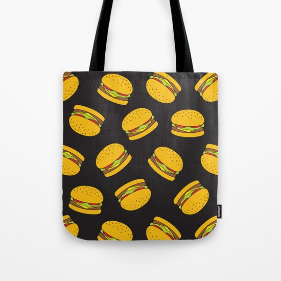 Burger Pattern  Everett co Tote Bag