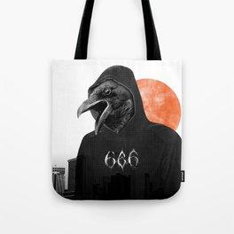 The Satanic Metal Crow Tote Bag