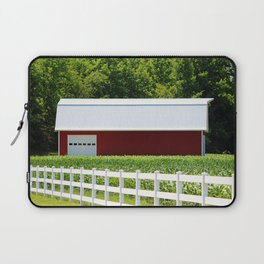 Red Barn And White Fence Laptop Sleeve