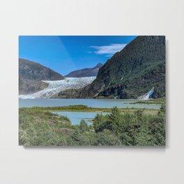 Glacier Meets Water Metal Print
