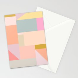 Pastel Geometric Graphic Design Stationery Cards