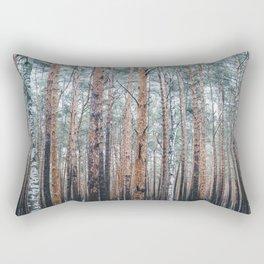 Wall of trees Rectangular Pillow