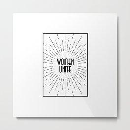 Women Unite Metal Print
