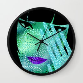 Shy And Different Wall Clock