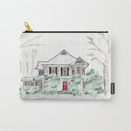 Thistlewood Farm, Watercolor, Farmhouse, Red Door, Kentucky Carry-All Pouch