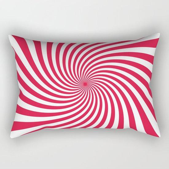 Swirl (Crimson/White) Rectangular Pillow