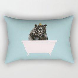 Big Bear in Bathtub Rectangular Pillow