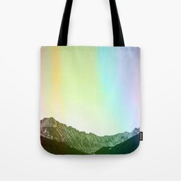 Rainbow Ridge Snow Capped Mountain Range \\ Colorado Landscape Photography \\ B&W Ski Season Art Tote Bag