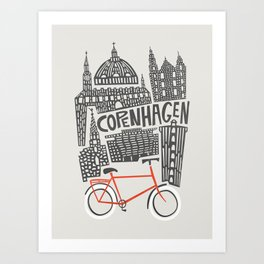 Copenhagen Cityscape Art Print