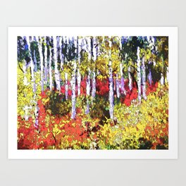 Title: Glorious Colors - digital Silk Screen Art Print