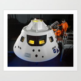 328. Stepping into the Orion Crew Module Art Print