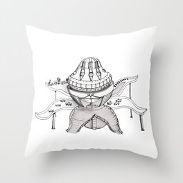 Fantastic house is inspired by the flower Throw Pillow