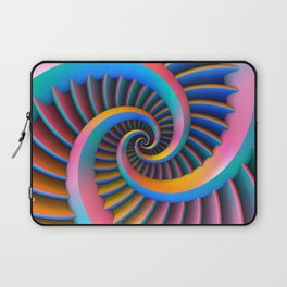 Opposing Spirals Laptop Sleeve