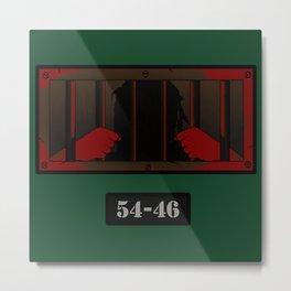 54-46 - Red Metal Print