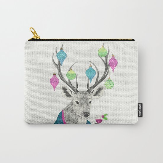 Mr. Deer gets festive  Carry-All Pouch