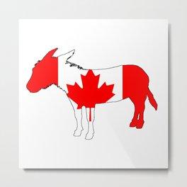 Canada Donkey Metal Print