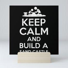 Keep Calm Sand Castle Mini Art Print