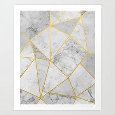 Shattered Marble Art Print