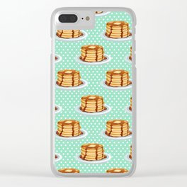 Pancakes & Dots Pattern Clear iPhone Case