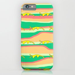 CONTEMPORARY YELLOW FLOATING LEAVES iPhone Case