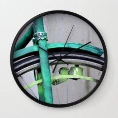 Green bike Wall Clock