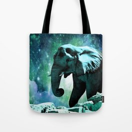 Galaxy Elephant of the Planet Pachyderm Tote Bag