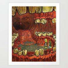 At The Mouth Art Print