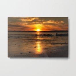 As the sun goes down  Metal Print