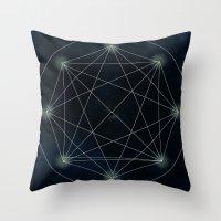 sacred geometry Throw Pillows featuring Geometry Sacred by BlueGardenia36