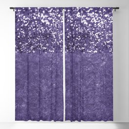 Ultra Violet Glitter Meets Ultra Violet Concrete #1 #decor #art #society6 Blackout Curtain