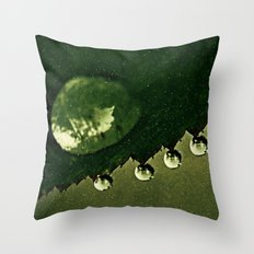 Leaf Drops Throw Pillow